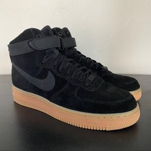 NEW Nike Air Force 1 High SE Black Gum